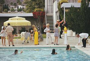 Slim Aarons, 'Poolside Entertaining', 1970
