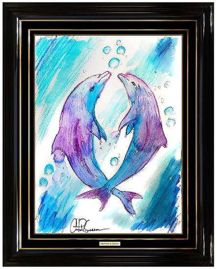 Christian Lassen, 'Playful Dolphins', 21st Century