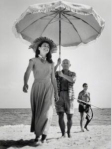 Robert Capa, 'Pablo Picasso & Francoise Gilot, Golfe-Juan, France, August, 1948', 1948