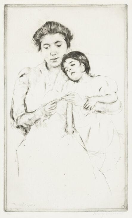 Mary Cassatt, 'The Crocheting Lesson', 1902