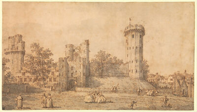 Canaletto, 'Warwick Castle: The East Front', 1752