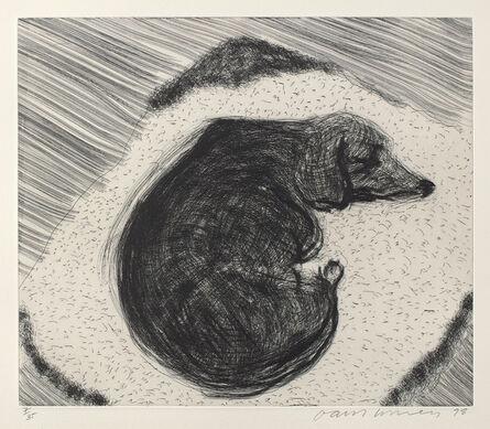David Hockney, 'Dog Wall No.3, from Dog Wall', 1998