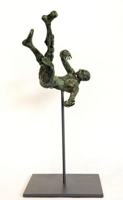 Sylvain Louis Seize, 'Equilibrium No 3 - small, lively, figurative, male, bronze, sculpture series', 2017