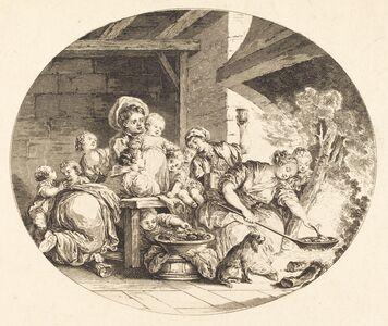 Nicolas Delaunay after Jean-Honoré Fragonard, 'Les Baignets', probably 1782