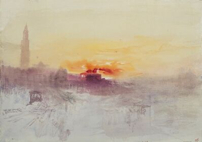 J. M. W. Turner, 'Venice at Sunrise from the Hotel Europa, with the Campanile of San Marco', 1840
