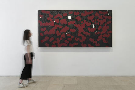Donald Sultan, 'Night Berries Mimosa Feb 4', 2020