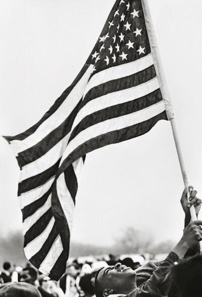 Steve Schapiro, 'Selma March, Flag,', 1965