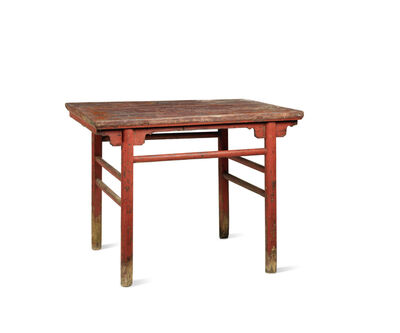 Unknown Chinese, 'A red lacquered softwood rectangular table', China: Shanxi province-16/17th century