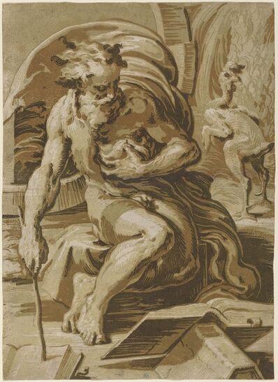 Ugo da Carpi after Parmigianino, 'Diogenes', ca. 1527
