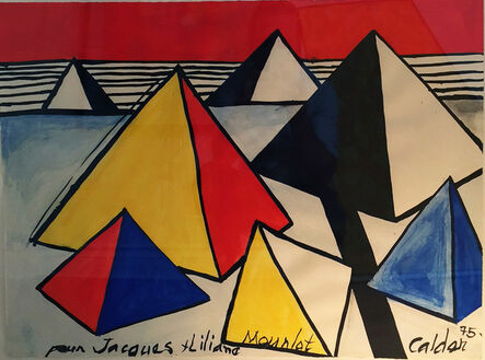 Alexander Calder, 'Untitled (pyramids)', 1975