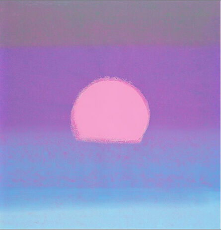 Andy Warhol, 'Sunset (Unique) (Purple/ Blue)', 1972