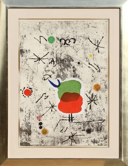 Joan Miró, 'Serie Personatges I Estels: Plate 1', 1979