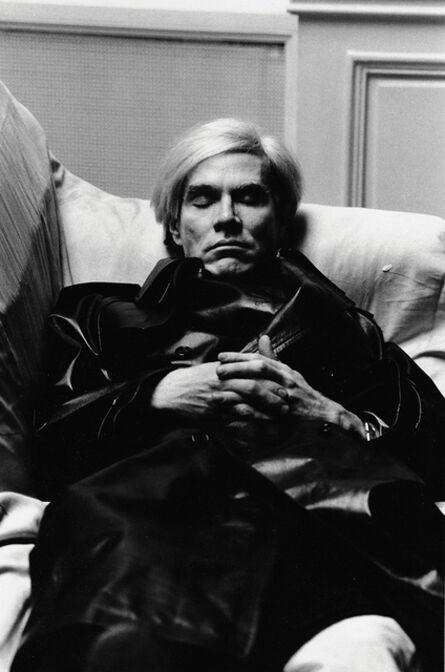Helmut Newton, 'Andy Warhol, Paris', 1974