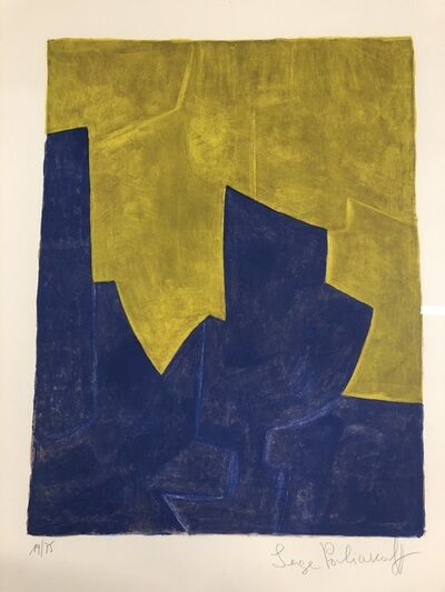 Serge Poliakoff, 'Composition Blue et Jaune', 1966
