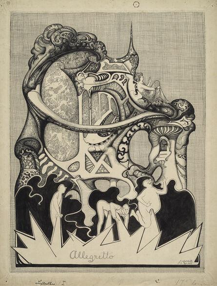 Johannes Holbek, 'Allegretto', 1899