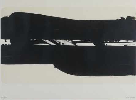 Pierre Soulages, 'Lithographie n°39 ', 1977