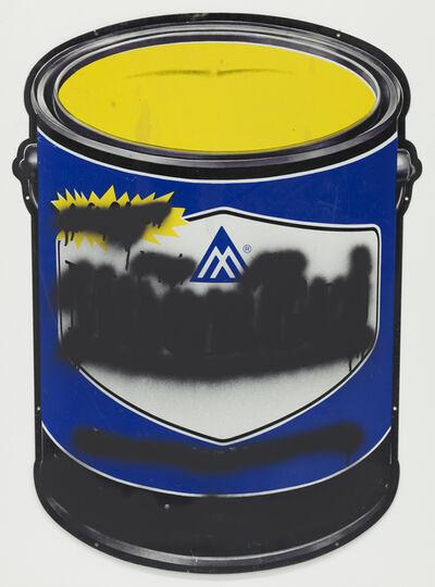 Mark Flood, 'Blue Paint Can Mute', 2014