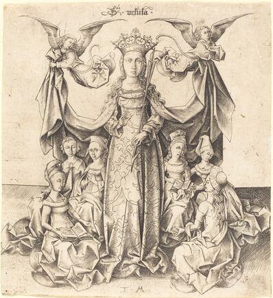 Israhel van Meckenem, 'Saint Ursula and Her Maidens', ca. 1475/1480