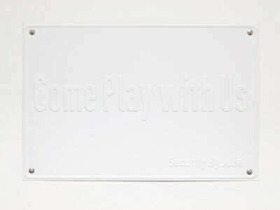 Julia Scher, 'Come Play with Us (The Ecology of Visibility)', 2020