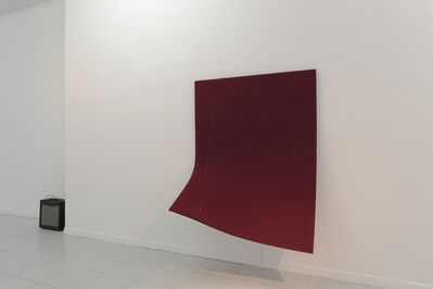 Naama Tsabar, 'Naama Tsabar, Work On Felt (Variation 12), Burgundy', 2016