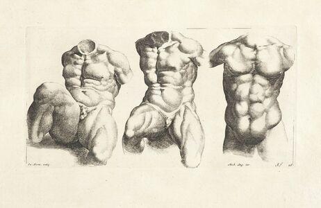 Jan de Bisschop, '[Three male torsi]', 1731-1741