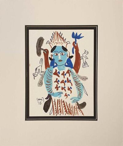 """K. G. Subramanyan, 'Untitled, Figurative, Watercolour on Paper by Modern Artist """"In Stock""""', 2015"""