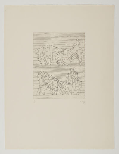 Henry Moore, 'Two Reclining Figures (Linear)', 1969