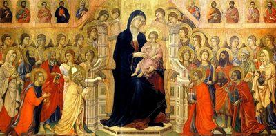 Duccio, 'Virgin and Child in Majesty, Central Panel from the Maestà Altarpiece', 1308-1311