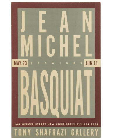 """Jean-Michel Basquiat, 'Jean-Michel Basquiat's """"Drawings"""", Group Exhibition Invitation Card (double-sided), Tony Shafrazi Gallery NYC', 1987"""
