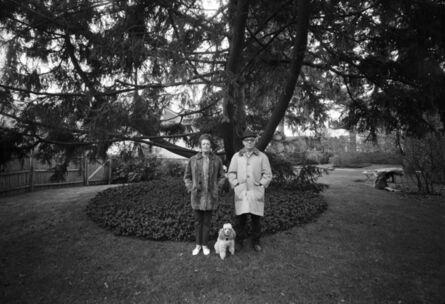 Henry Horenstein, 'Mom, Chammie, and Dad, Backyard, Newton, MA', 1970