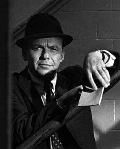 "Ron Galella, 'Frank Sinatra on the set of ""The Detective"", 67th Street Precinct, New York', 1967"