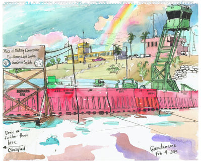 Steve Mumford, '2/4/13, Exterior Comission, Guantanamo, Cuba', 2013