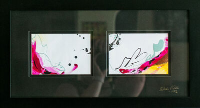 Whitney Pintello, 'Lipstick Stain No. 1- Small Scale Abstract Diptych ', 2020