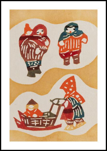 Keisuke Serizawa, 'Three People, Two Babies (Yellow)', 20th Century