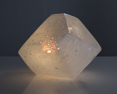 Jeff Zimmerman, 'Faceted Crystal table lamp in hand-blown glass', 2015