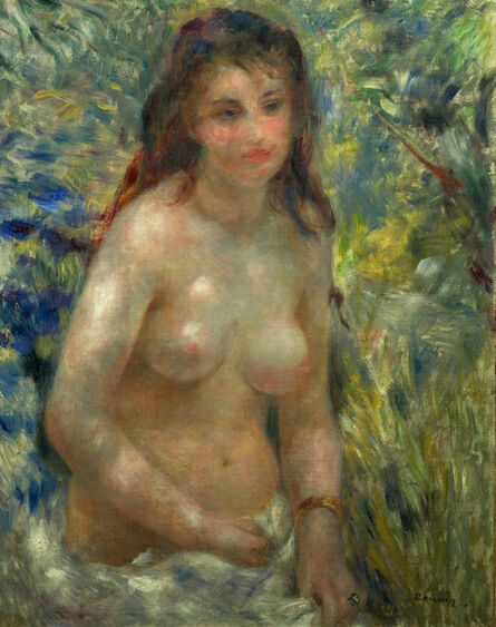 Pierre-Auguste Renoir, 'Study. Torso of a Woman in the Sunlight', 1875–76