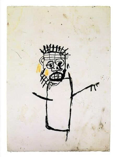 Jean-Michel Basquiat, 'Basquiat at Robert Miller Gallery New York 1990 (vintage Basquiat announcement))', 1990