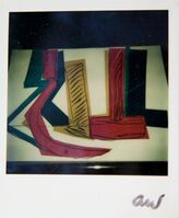 Andy Warhol, 'Andy Warhol, Colorful Hammer and Sickle Painting Detail, Polaroid Photograph, 1977', 1977