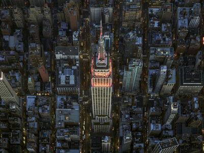 Jeffrey Milstein, 'NYC Empire State Building Autumn Light I - NY Aerials', 2017