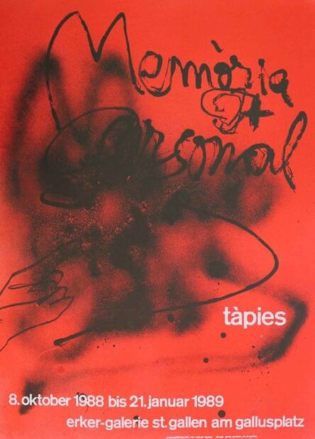 Antoni Tàpies, 'Memòria personal', 1988