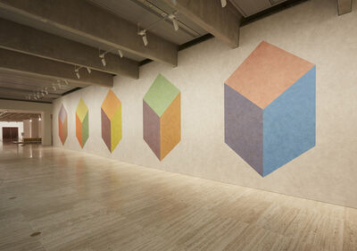 Sol LeWitt, 'Wall Drawing 604H, cubic rectangle with color ink washes superimposed', 1989