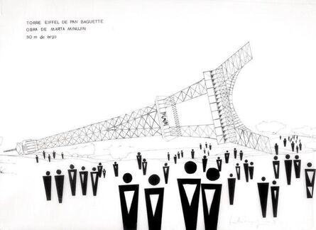 Marta Minujín, 'Torre Eiffel de Pan Baguette', 1982