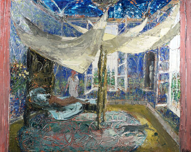 John Bradford, 'Two Figures in a Parisian Room or Joseph and Potiphar's Wife', 2020