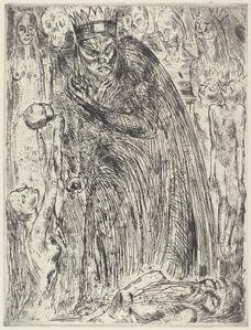 Wilhelm Lehmbruck, 'Macbeth V (The Vision of Lady Macbeth)', 1918