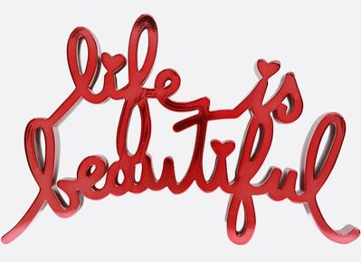 Mr. Brainwash, 'Life Is Beautiful - Hard Candy Red', 2020