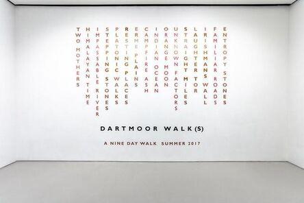 Richard Long, 'Dartmoor Walk(s)', 2017
