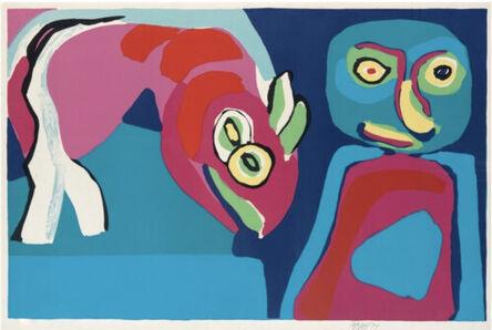 Karel Appel, 'Personnage et cheval', 1971