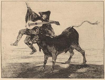 Francisco de Goya, 'Dios se lo pague a usted (Aveugle enlevé sur les cornes d'un taureau)', ca. 1804