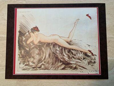 Louis Icart, 'Nude in Red Hat (aka Hoopla)', 1935