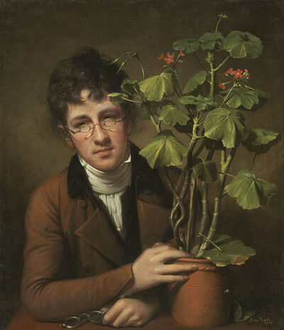 Rembrandt Peale, 'Rubens Peale with a Geranium', 1801